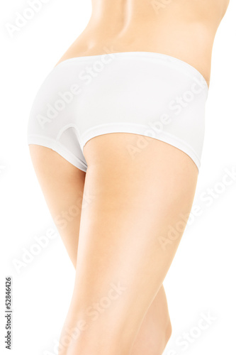 An attractive female legs isolated on white background