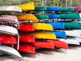 Colorful kayaks for rent