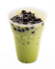 bubble tea green isolated on white