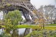 Paris. Wonderful view of Eiffel Tower. La Tour Eiffel in winter
