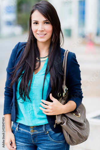 Beautiful casual woman