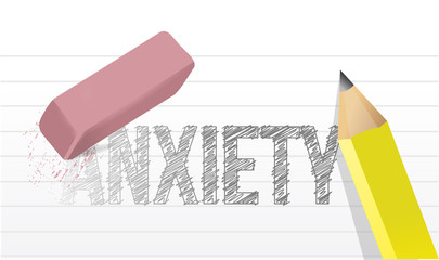 deleting anxiety concept illustration design