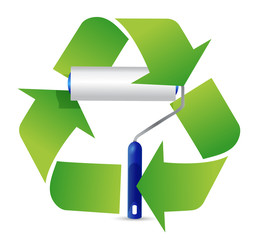 recycle paint roller illustration design
