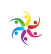 Teamwork swooshes colored logo