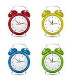 Color alarm clock set