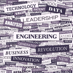 ENGINEERING. Word cloud concept illustration.