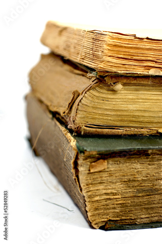 Old damaged books