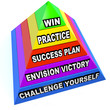 Win Steps Pyramid Success Plan Practice Challenge