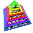 Win Steps Pyramid Success Plan Practice Challenge