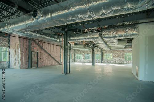 Staande foto Industrial geb. steel frame construction project unfinished