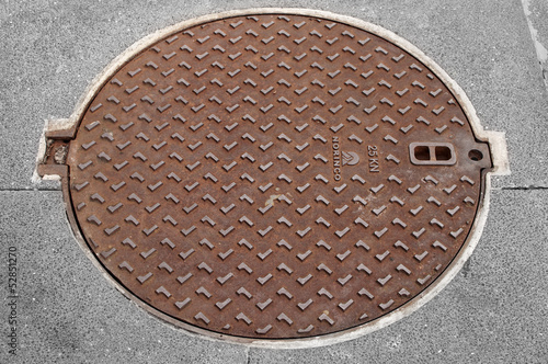 manhole on the street