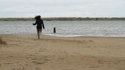 plage jogging