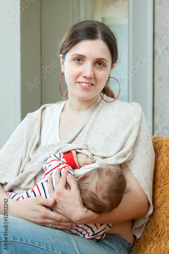 Nursing young baby
