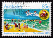 Postage stamp Australia 1983 Holiday Beach Scene, Christmas