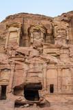 the Corinthian Tomb in nabatean city of  petra jordan poster