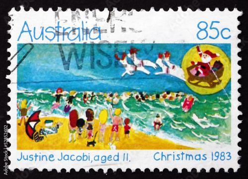 Postage stamp Australia 1983 Holiday Beach Scene, Christmas