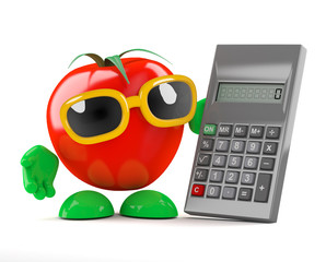 Tomato calculates his calories