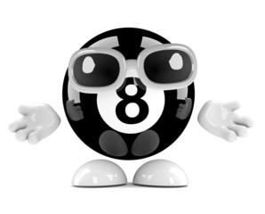 8 ball shrugs nonchalantly