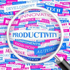 PRODUCTIVITY. Word cloud concept illustration.