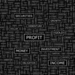 PROFIT. Word cloud concept illustration.