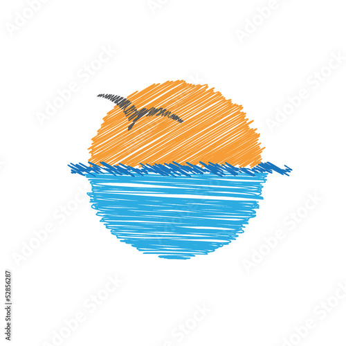 Vector logo summer