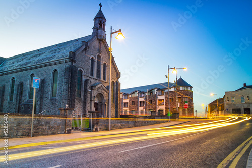 Church in Limerick city at night, Ireland