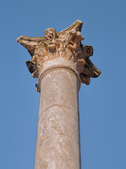 Roman theater column capital