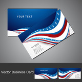 American Flag 4th july business card set  vector illustration