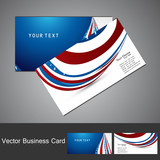 American Flag 4th july business card set wave design