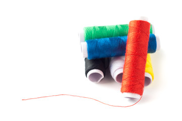 Spools of colourful thread