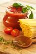 Tomaten mit Nudeln