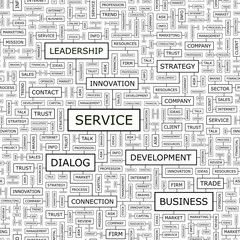 SERVICE. Word cloud concept illustration.