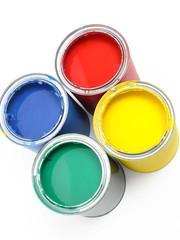 Farbdosen von oben