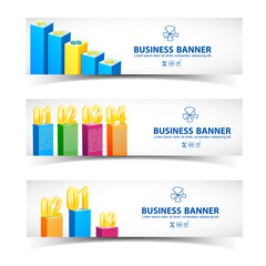 Business concept banners set