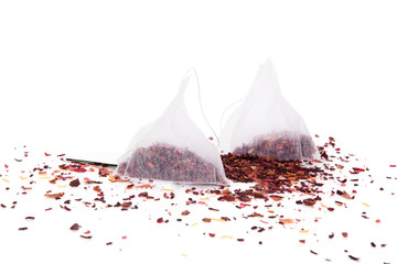 Dried fruit tea and teabag.
