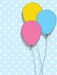 Holiday background with doodle balloons