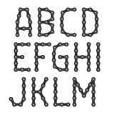 Fototapety Bicycle chain alphabet