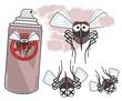 danger of mosquitoes - STOP mosquito  - dead mosquitoes