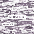 STRATEGY. Word cloud concept illustration.
