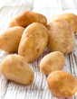 New raw potatoes