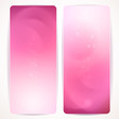 Set of pink abstract vertical banners.