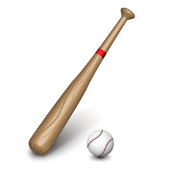 Baseball bat. Vector
