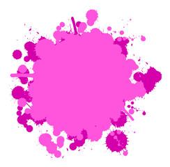 Farbklecks pink
