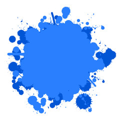 Farbklecks blau