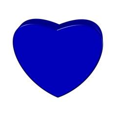 Herz blau 3D
