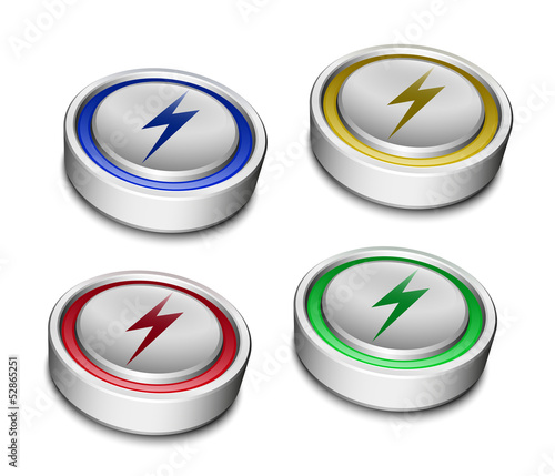 Set of Battery Icons