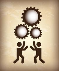 teamwork silhouette