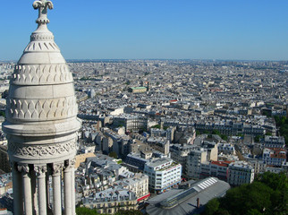 Paris aerial view from Sacre Ceure cathedral