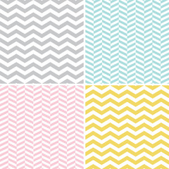 Set of zigzag (chevron) patterns