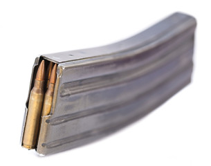 Magazine Full with Cartridges - Bokeh